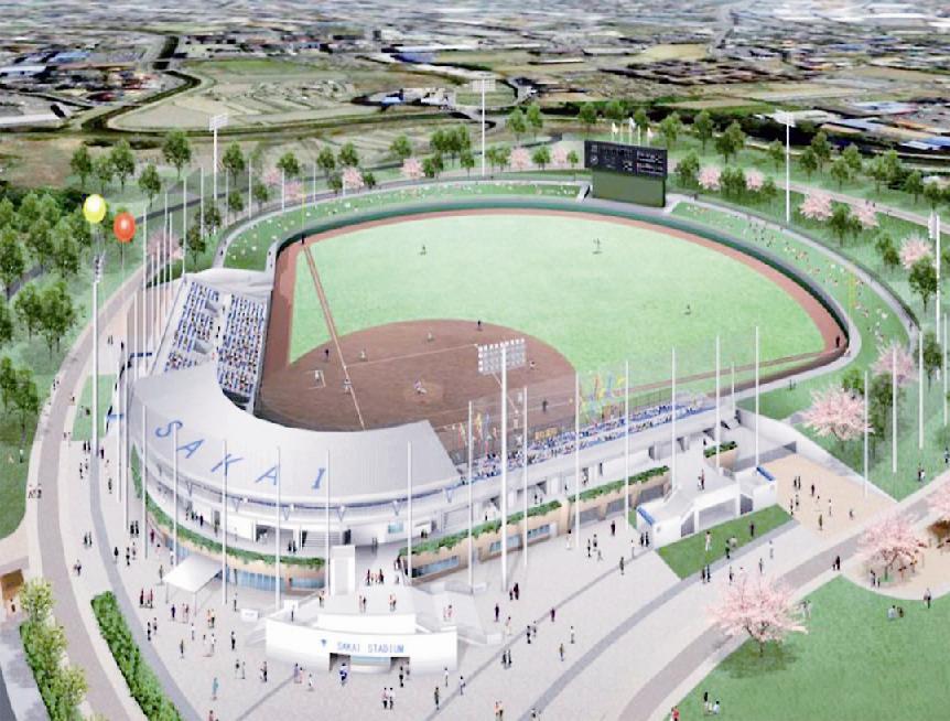 堺市/原池公園第3期・新野球場(中区)基本設計公表/17年度着工へ ...